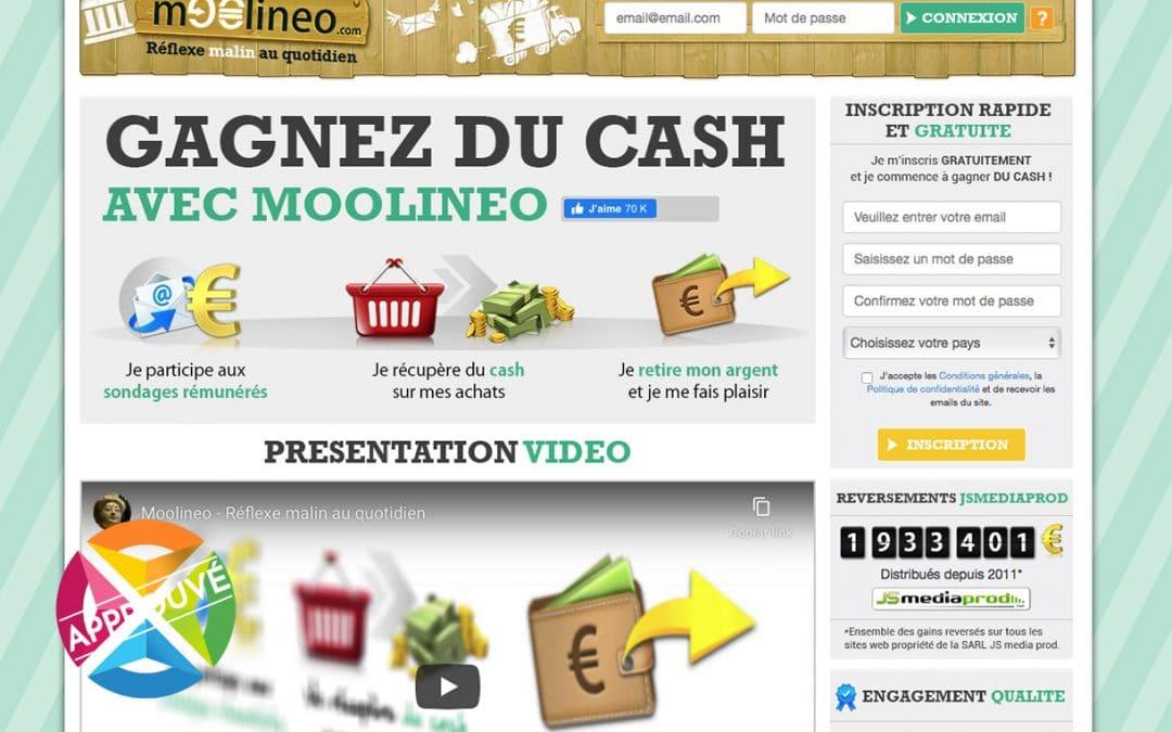 Présentation et avis du site de sondage rémunéré Moolineo